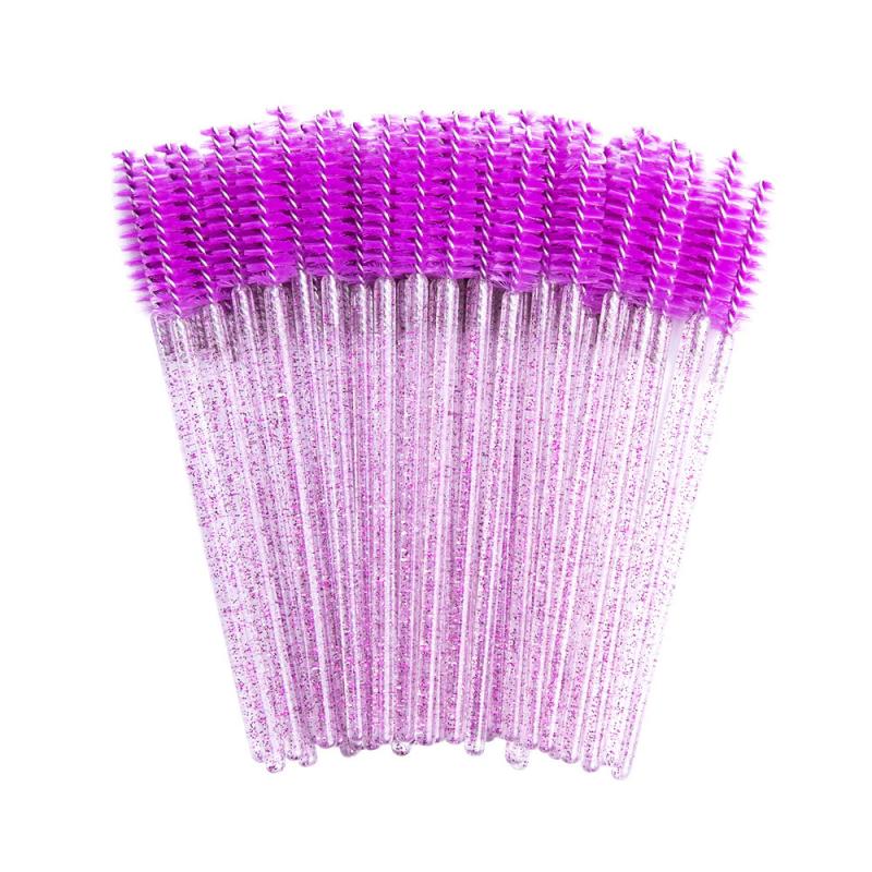 Aplikatory i szczoteczki 50 szt. Szczoteczki kolor fiolet/brokat Lashes Mania 9.995 - 1