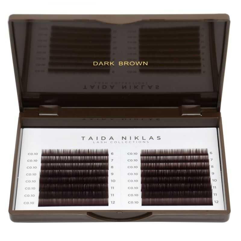 """Eyelashes in pallets Eyelashes by Taida Niklas """"Brown Collection"""" color Dark Brown Taida Niklas™ 50.915 - 1"""