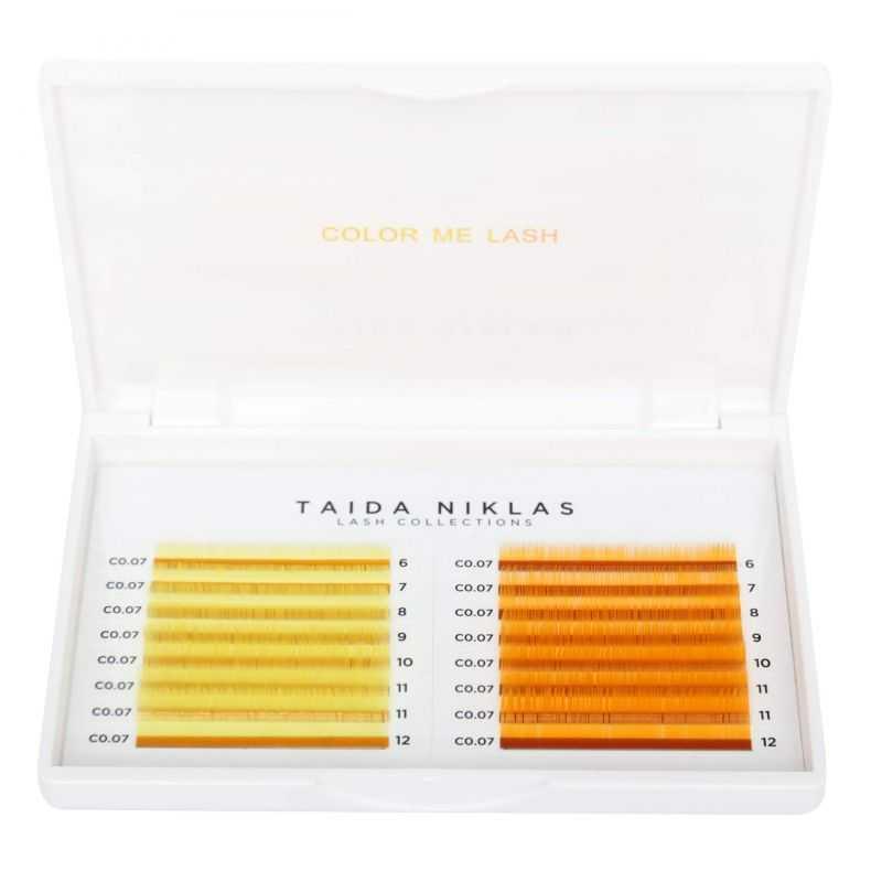 """Rzęsy w paletkach Rzęsy firmy Taida Niklas kolor """"Havana Yellow/Florida Orange"""" Taida Niklas™ 49.118 - 1"""